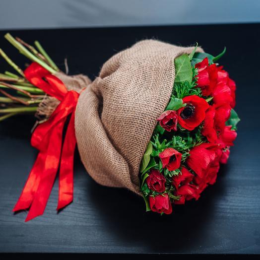 Букет из 25 анемонов: букеты цветов на заказ Flowwow