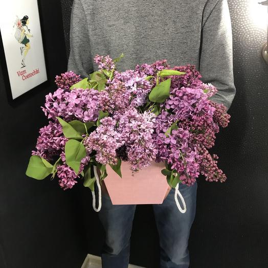 Коробочка Сирени: букеты цветов на заказ Flowwow