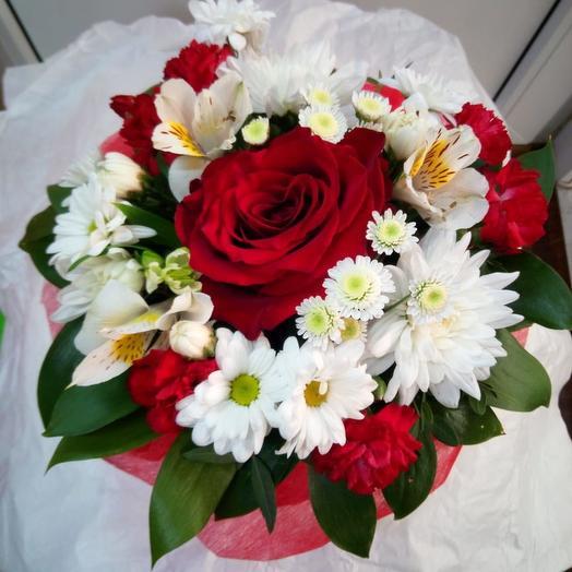 """Комплимент """"Red White"""": букеты цветов на заказ Flowwow"""