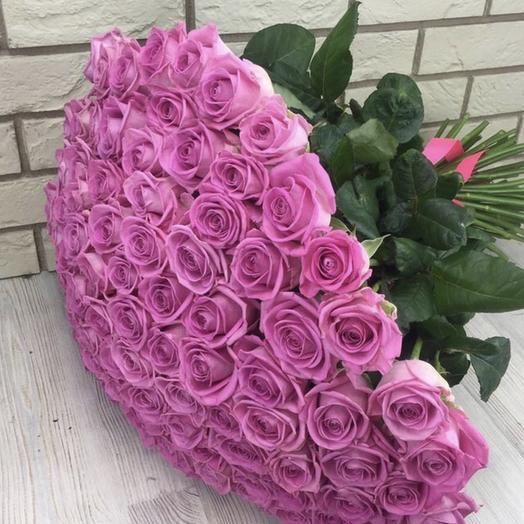 101 Роза Принцесса: букеты цветов на заказ Flowwow
