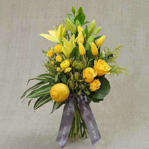 """Средний букет """"Гера"""": букеты цветов на заказ Flowwow"""