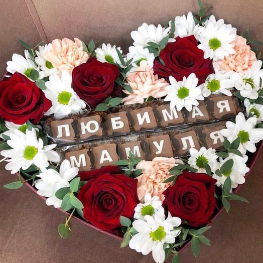 Цветочная коробка «Любимой мамуле»
