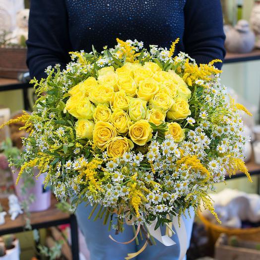 """Букет цветов """"Солнечное сияние"""": букеты цветов на заказ Flowwow"""