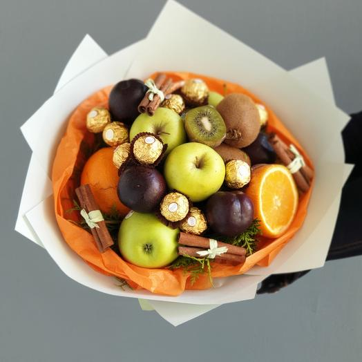 Фруктовый букет Пряная сладость: букеты цветов на заказ Flowwow