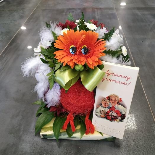 """Мудрая сова 🦉 """"Лучшему учителю"""": букеты цветов на заказ Flowwow"""