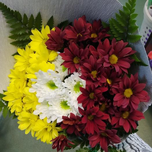 Микс кустовой хризантемы: букеты цветов на заказ Flowwow