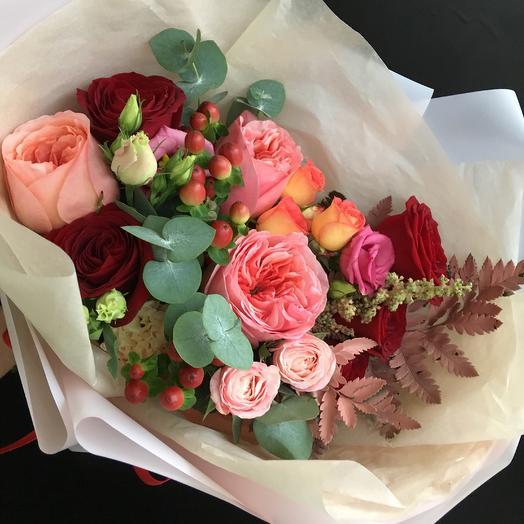 Букет с хриантемами: букеты цветов на заказ Flowwow