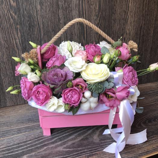Luxury pink box: flowers to order Flowwow