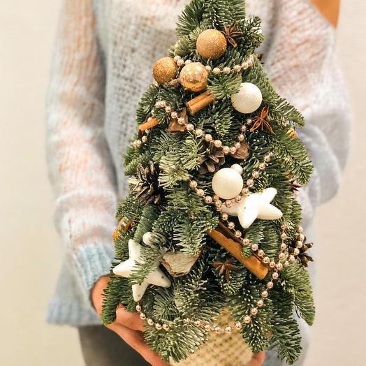 Новогодняя ель с ароматом корицы: букеты цветов на заказ Flowwow