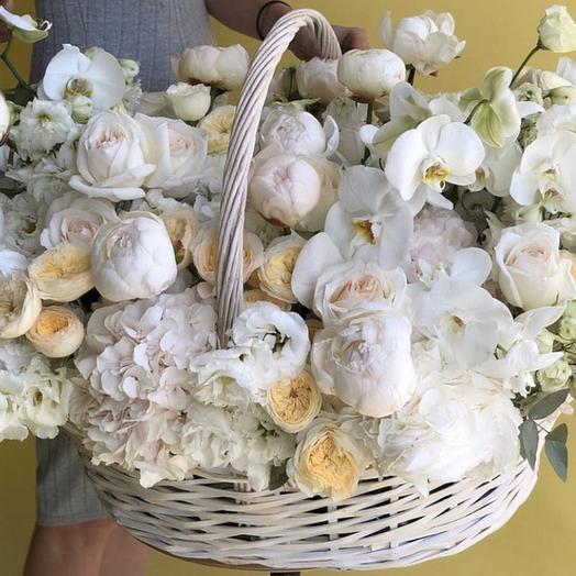 """Цветы в корзине """"Незабываемое впечатление"""""""