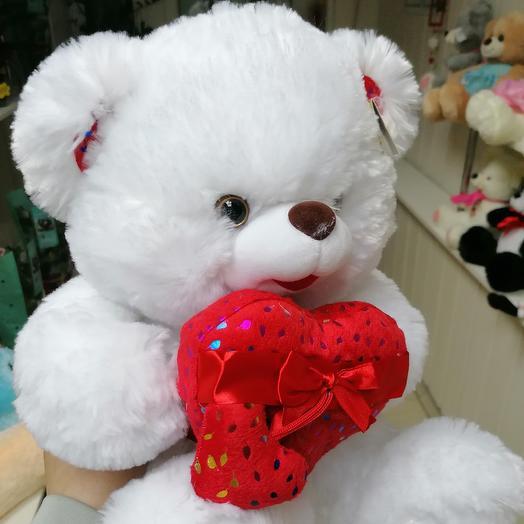 Soft bear with a heart