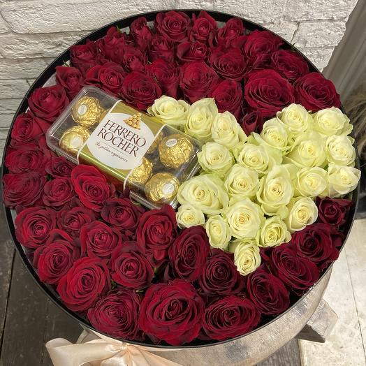 Сердце с любимыми конфетами: букеты цветов на заказ Flowwow