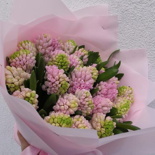 Букет из розовых гиацинтов: букеты цветов на заказ Flowwow