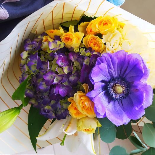 анемонобукет (фиолетовый)