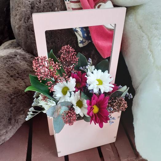 Цветы в ящике: букеты цветов на заказ Flowwow