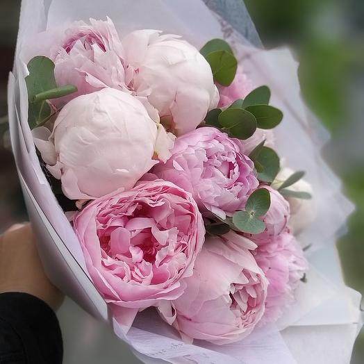 Букет,  11 пионов: букеты цветов на заказ Flowwow