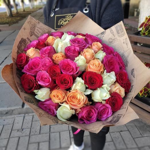 101 роза (50см)
