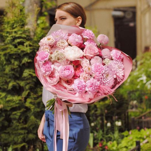 Букет «Розовые мечты», размер L