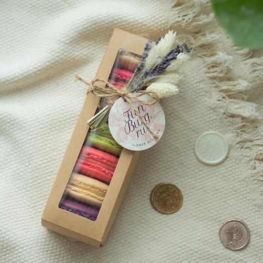 Коробочка с макарунами «Приятный сюрприз» 7шт
