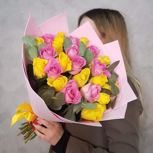 Желто-розовые