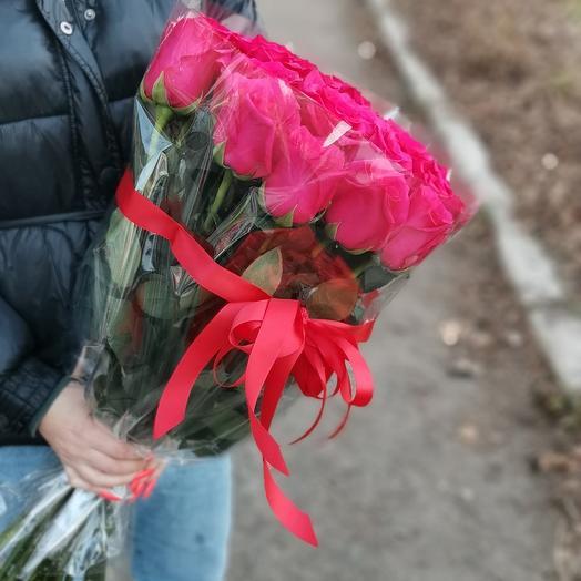 """25 роз """"Фуксия"""""""