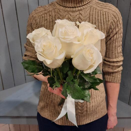 7 роз эквадор 40см