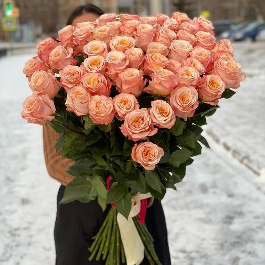 51 Роза Эквадор 80 см