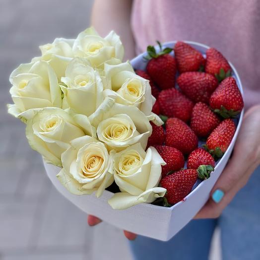 От всего сердца M с розами