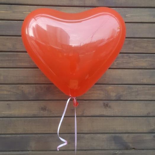 Шар - сердце латекс без надписей