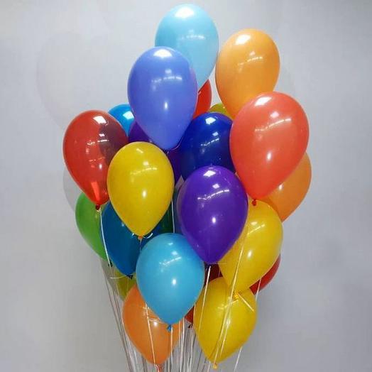 25 шаров с гелием и обработкой
