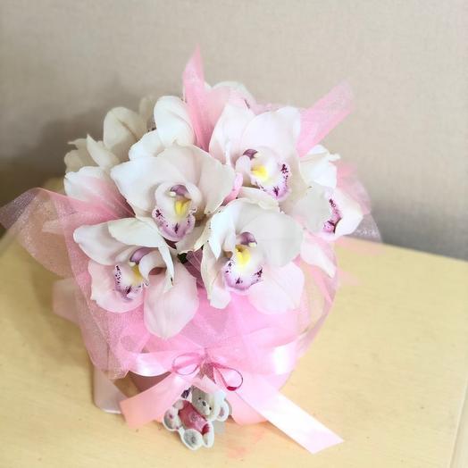 Орхидеи в коробке. Цветы в коробке