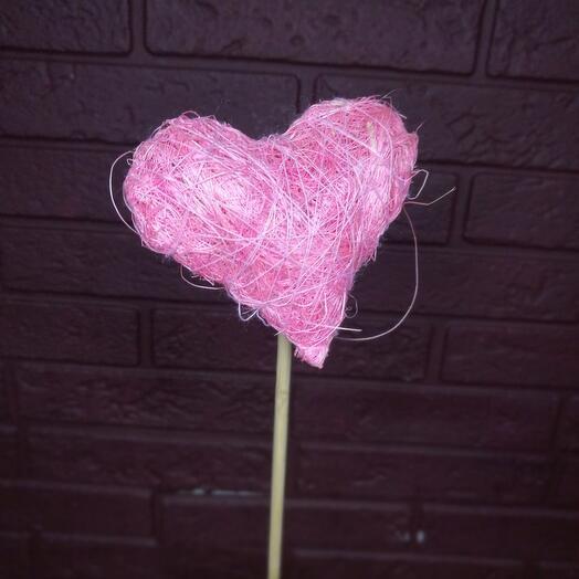 Топер «Сердце» розовый
