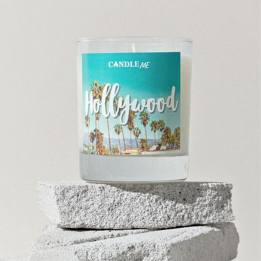 Свеча ароматическая HOLLYWOOD / Голливуд - аромасвечи с хлопковым фитилем, CANDLE ME