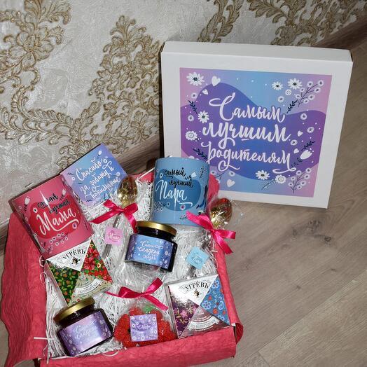 """Подарочный набор """"Лучшим родителям"""" в подарок сувенир"""