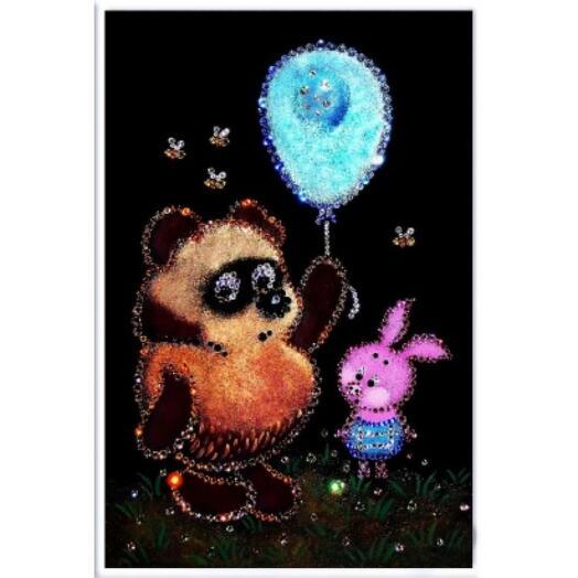 "Картина с кристаллами Swarovski ""Винни пух"""