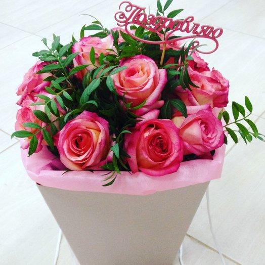 Букет из роз в сумочке: букеты цветов на заказ Flowwow