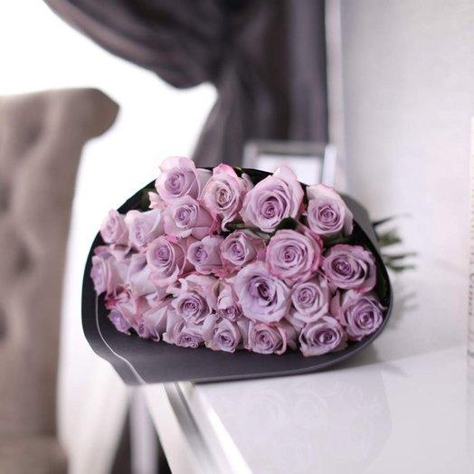 Букет из 25 роз Purple