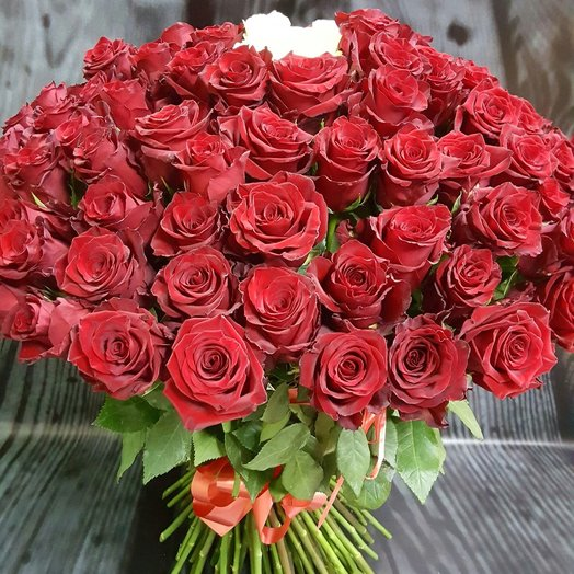 101 Valentine red roses: flowers to order Flowwow