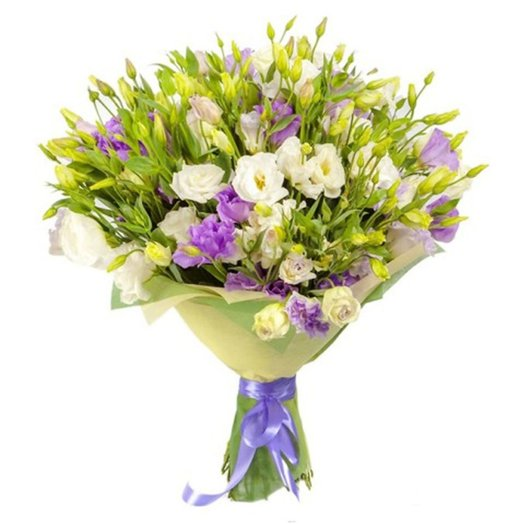 25 эустом в упаковке: букеты цветов на заказ Flowwow