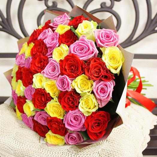 Букет Шарли - 51 роза 50 см: букеты цветов на заказ Flowwow
