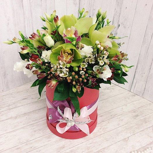 Экзотическая коробочка: букеты цветов на заказ Flowwow