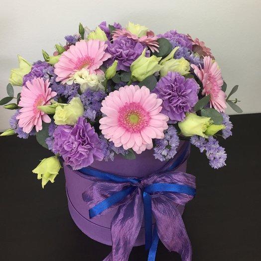 Шляпная коробка с гермини : букеты цветов на заказ Flowwow