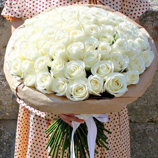 Букет 101 белой розы