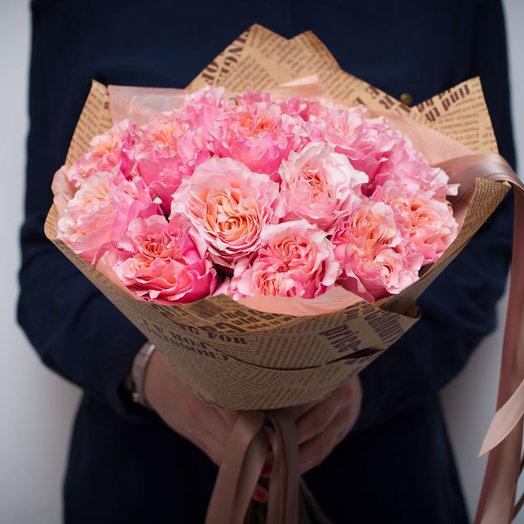 Букет Коралловые садовые розы