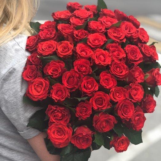 Букет из 51 розы Эль-торо: букеты цветов на заказ Flowwow