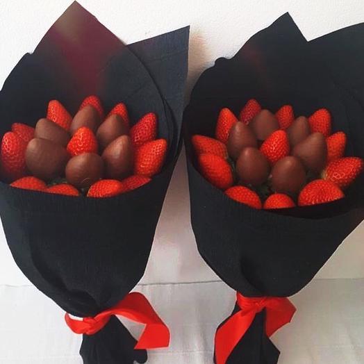 Клубничный букет: букеты цветов на заказ Flowwow