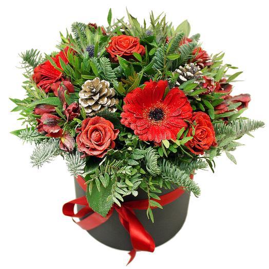 Коробочка Новый Год: букеты цветов на заказ Flowwow