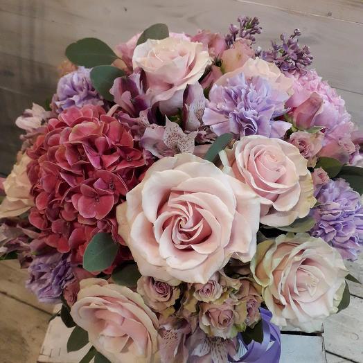 """Коробка макси """"Прованс"""": букеты цветов на заказ Flowwow"""