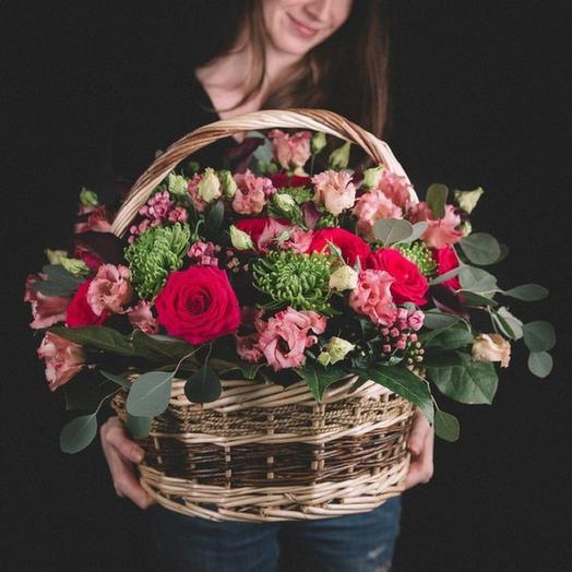 Корзина Нежные чувства: букеты цветов на заказ Flowwow