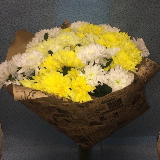 Солнечная хризантема: букеты цветов на заказ Flowwow